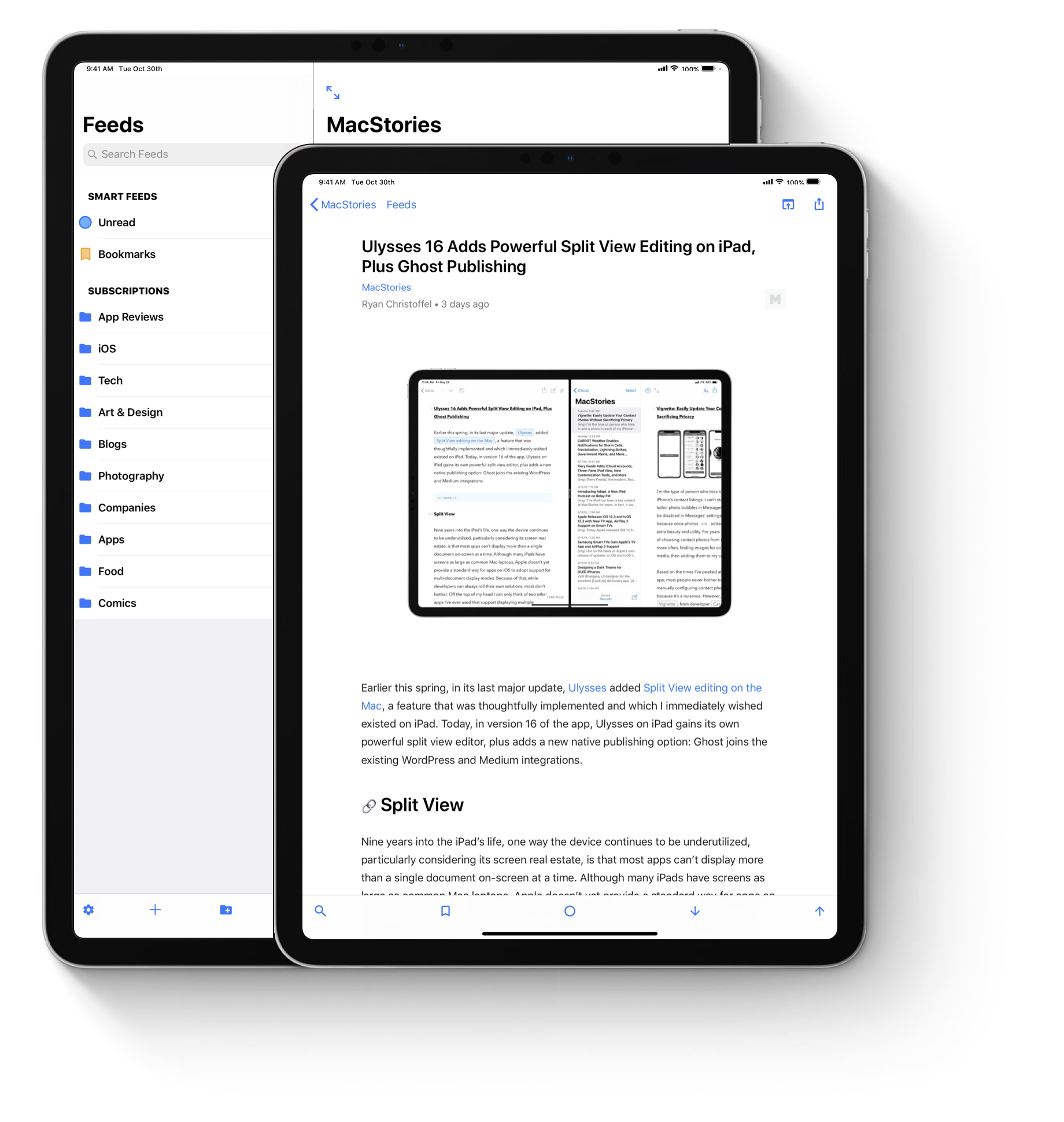 Toolbars on the primary interfaces on the iPad Pro 11 inches and 12.9 inches