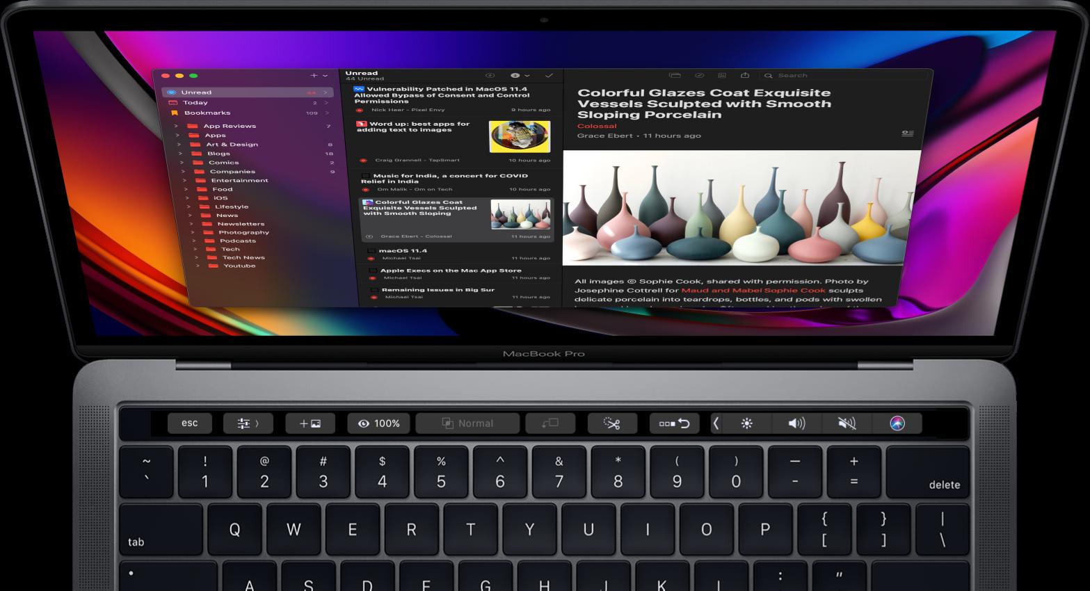Elytra version 2.3.2 running on a Macbook Pro in dark mode.