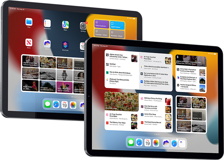 Elytra's extra large widgets for iPadOS 15